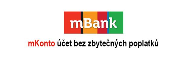 mKonto od mBank je bankovní účet zdarma bez poplatků